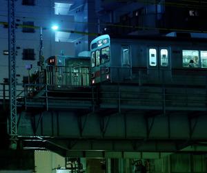 night, subway, and train image