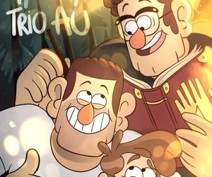 gravity falls, stanford pines, and fiddleford mcgucket image
