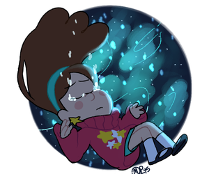 shooting star, gravity falls, and mabel pines image