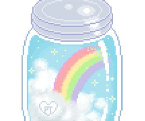 pixel, rainbow, and overlay image