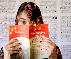 comic, book, and girl image