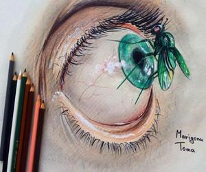 eye, amazing, and blue image
