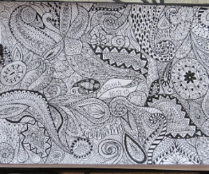 black and white, design, and doodle image