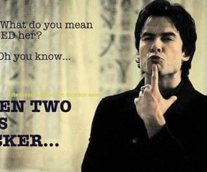 damon, the vampire diaries, and kiss image