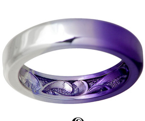 purple, silver, and ring image