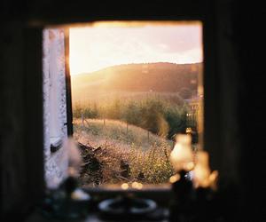 window, sun, and photography image