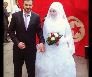 dress, white, and married image