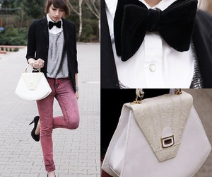 bow tie, fashion, and hair image