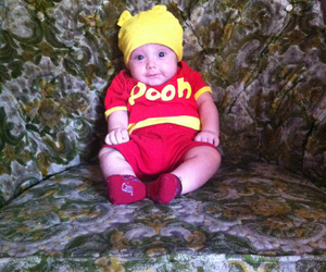 baby, pooh, and cutebaby image
