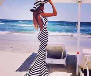 dress, summer, and beach image