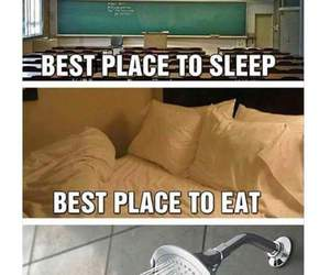 bed, eat, and funny image