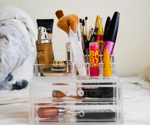 colorfull, makeup, and mascara image