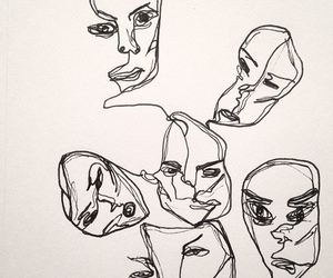 face, art, and drawing image