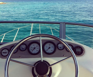 summer, beach, and boat image