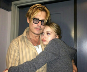 johnny depp, daughter, and family image