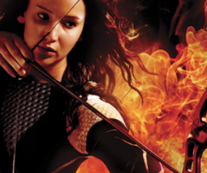 Jennifer Lawrence, the hunger games, and girl on fire image