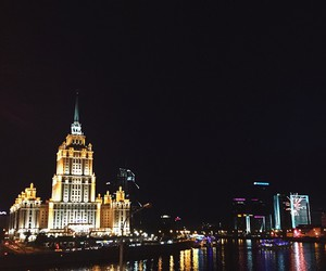 moscow and night image