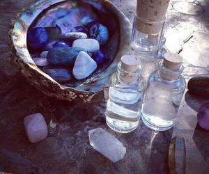 witch, crystal, and stone image