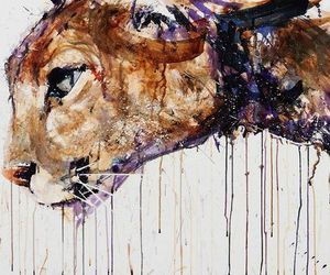 art, cat, and lion image