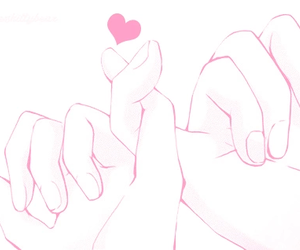 promise, pinky swear, and love image