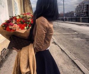 flowers, dress, and fashion image