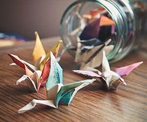 origami, bird, and photography image