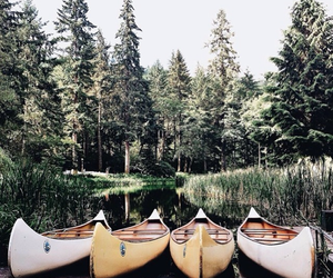canoe, nature, and travel image