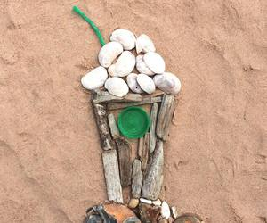 beach, art, and funny image