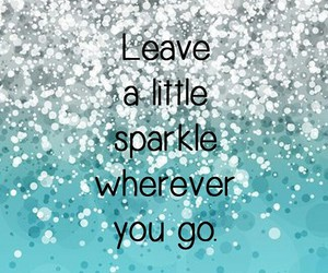 blue, quote, and sparkle image