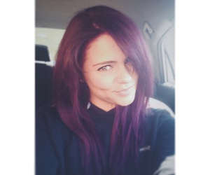 hair, plum, and pretty image