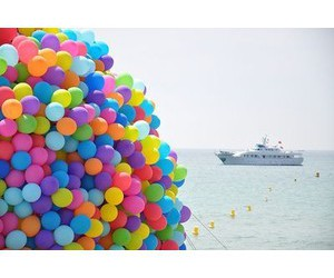 rainbow and balloons image