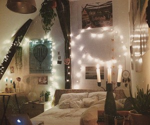 bed, room, and cosy image