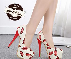 fashion, heels, and lips image