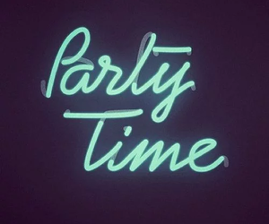 party, neon, and fun image