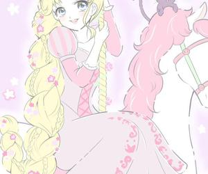 anime, rapunzel, and sailor moon image