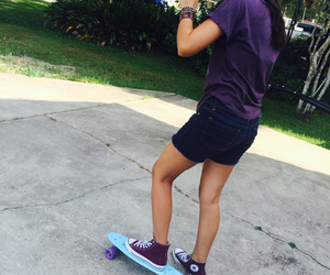 babe, goals, and skateboard image