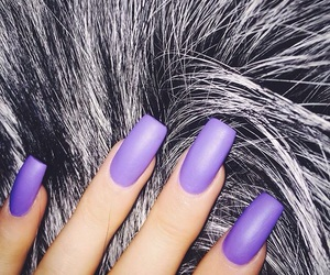 nails, purple, and kylie jenner image