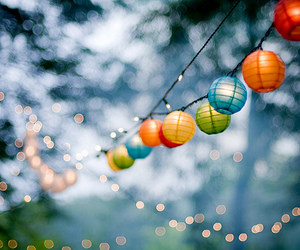 light, lantern, and colors image