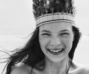 kate moss, smile, and model image