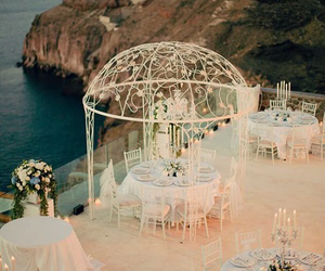 wedding, white, and sea image