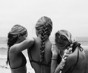 girl, friends, and beach image
