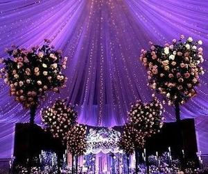 wedding, flowers, and light image