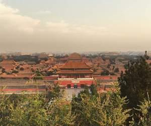 atardecer, beijing, and china image
