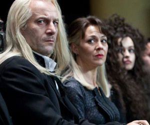 draco malfoy, harry potter, and narcissa malfoy image