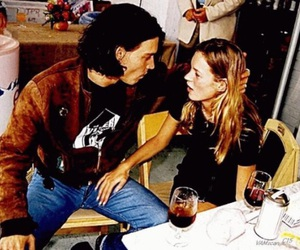 kate moss, johnny depp, and love image