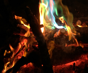 blue, fire, and fun image