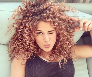 beauty, curls, and girl image