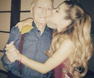 ariana grande, kiss, and grandpa image