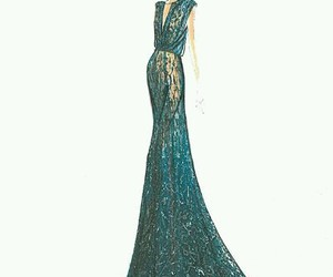 draw, dress, and elie saab image