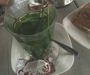 cafe, green, and mint tea image